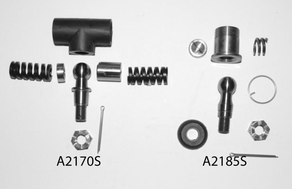 A2170S: Tiller Rod Steering Ball Joint Kit & A2185S: Track & Tiller Rod Steering Ball Joint Kit.